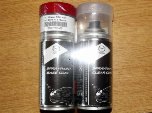Paint spray kit, genuine Mazda, A3E, Eternal Red
